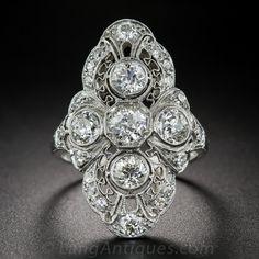 Art Deco Diamond Dinner Ring $4850