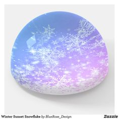 Winter Sunset Snowflake Paperweight Winter Sunset, Decoration Piece, Photo Quality, Different Shapes, Paper Weights, Thoughtful Gifts, Snowflakes, I Shop, Crafty
