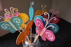 Butterfly Centerpieces 9 Pieces First Birthday by GiggleBees, $20.00