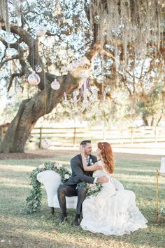 Southern Garden Chic Wedding Inspiration, garden wedding cocktail hour