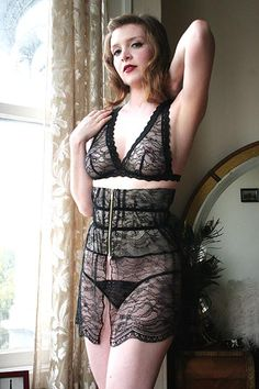 On Dollhouse Bettie  Dollhouse Bettie French Quarter Black Lace Skirted  Waspie  66.00 - on sale 30a50d870