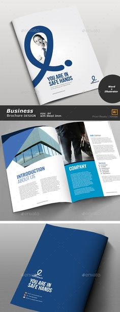Business Bifold Brochure Design  — EPS Template #word brochure #design portfolio • Download ➝ https://graphicriver.net/item/buisness-bifold-brochure-design/18248270?ref=pxcr