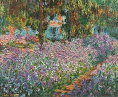 """The Artist's Garden"" by Claude Monet   (claude-monet.com)"