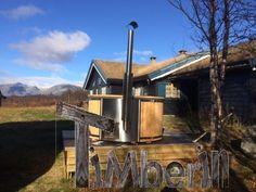 Badestamp i glassfiber med integrert ovn termo tre Welness Royal, Jannicke Christensen, RØN, Norge