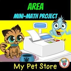Use this mini Math Project to help students develop an understanding of area measurement by designing their own pet store shop floor. Teaching Measurement, Area Measurement, Teaching Math, Teaching Ideas, Second Grade Math, Fourth Grade, Third Grade, Fun Math, Math Games