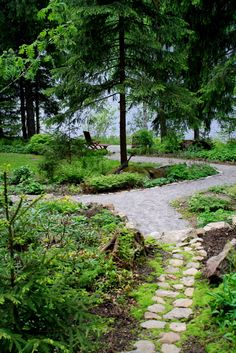 Kivipolku Garden Inspiration, Garden Ideas, Back Gardens, Dream Garden, Stepping Stones, Landscape Design, Paths, Yard, Cottage