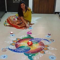 Rangoli Painting, Beach Mat, Outdoor Blanket