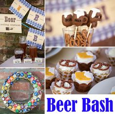 There are so many creative details in this Oktoberfest inspired beer bash - perfect for any guy's birthday and even a 21st birthday! #bday #party #idea #fall #beerbash #oktoberfest