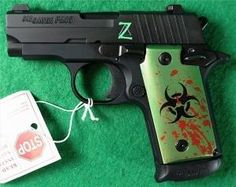 Sig Sauer P238 380 Zombie Limited Edition by Atomic_Scout Find our speedloader now! http://www.amazon.com/shops/raeind