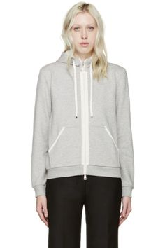 Moncler Grey French Terry Hoodie
