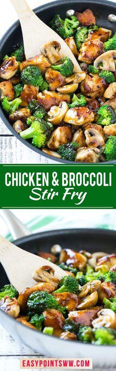 Weight Watchers Chicken and Broccoli Stir Fry ♥
