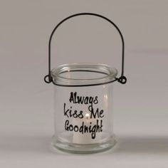 Always Kiss Me Goodnight Lantern | Kirklands