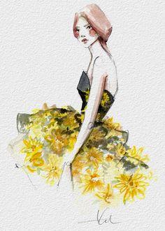 ❧ Couleur : Gris et jaune ❧