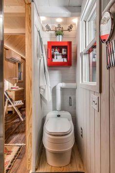 Bathroom in a tiny house.