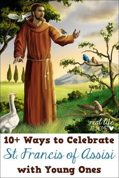 Feast days are a great way to learn about saints! Here are 10 ideas for fun activities for celebrating the Feast Day of St Francis of Assisi St Francis Day, Feast Of St Francis, St Francis Assisi, Saint Francis Prayer, Pope Francis, Catholic Crafts, Catholic Kids, Catholic Saints, Catholic School