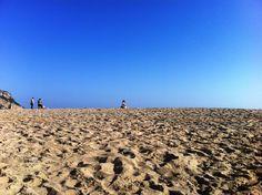 Gabi on the beach near Sesimbra