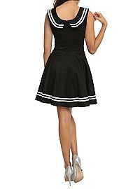 HOTTOPIC.COM - Hell Bunny Black Sailor Dress