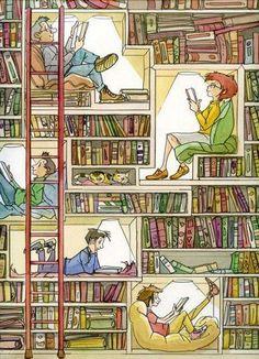 não seria ótimo ter uma biblioteca assim?