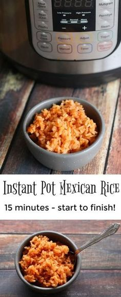 Make the perfect side dish for your Mexican meal…Instant Pot Mexican Rice. It … Make the perfect side dish for your Mexican meal…Instant Pot Mexican Rice. It is easy to make and ready in 15 minutes or less! Pressure Cooking Recipes, Slow Cooker Recipes, Crockpot Recipes, Healthy Recipes, Fast Recipes, Spinach Recipes, Bean Recipes, Sausage Recipes, Turkey Recipes
