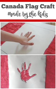 This Canada day flag craft is super easy to make and is a great family keepsake. Check out how simple it is for kids of all ages to make their own flag. Candian Flag, Crafts For Kids To Make, Art For Kids, Canada Day Flag, Canada Day Crafts, Canadian Culture, Family Crafts, Camping Crafts, Kids Playing