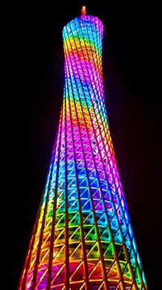 Rainbow colors ❖de l'arc-en-ciel❖❶Toni Kami Colorful light tower