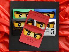 Ninjago Birthday Party Invites Ninjago by NotedPartyPrintables