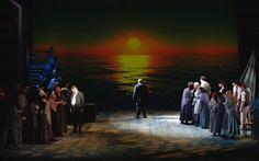 """Holender tułacz"" reż.Herbert Adler. Scena finałowa Opera, Art, Eagle, Poster, Art Background, Opera House, Kunst, Performing Arts, Art Education Resources"