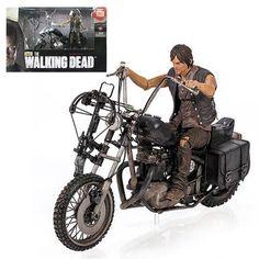 Walking Dead Daryl Dixon Abbildung & Motorrad Deluxe Box Set