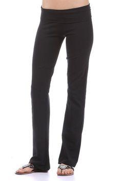 Yoga Pants W/ Fold Over Waist, 4 Colors Sizes S-M-L, Jr. Plus 1X-2X-3X