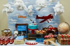 Vintage Airplane Party #vintage #airplanepartyideas