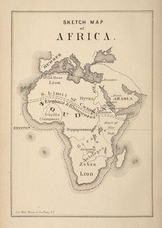 Sketch map of Africa. BelAfrique - your personal travel planner - www.BelAfrique.com