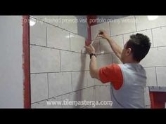 I LOVE this guy!!  Shower wall Tile installation DIY - How to Install shower surround tiles
