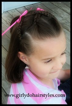Criss-Cross Braid Pigtails.  Cute and simple.  I love it!  Pinned from Girly Do Hairstyles by Jenn
