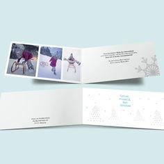Schneeflocken verschicken - Weihnachtskarten selbst gestalten