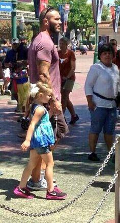 Randy Orton...at Disney World/Disneyland???  My two worlds have collided!!!