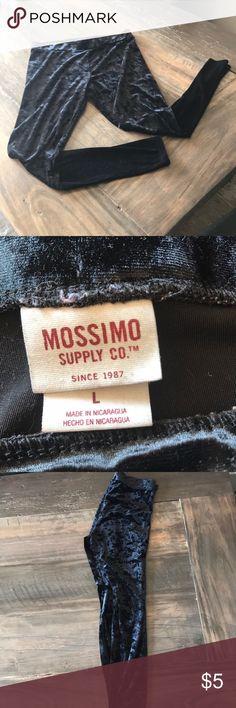 Velvet leggings Soft velvet like leggings. Black Mossimo Supply Co Pants Leggings