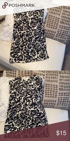 Strapless, Patterned Mini Dress Forever 21 small mini dress, perfect for a night out! Forever 21 Dresses Mini