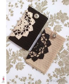 Crocheted smart phone cases by AbeliaHandmade  For inspiration, though I think she might sell them in her etsy shop.