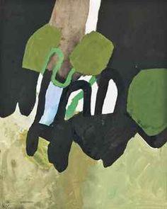 Keith Vaughan Green, Black and Blue, circa 1965 Abstract Landscape, Abstract Art, Abstract Trees, Abstract Paintings, Modern Art, Contemporary Art, Creation Art, Art Sculpture, Irish Art
