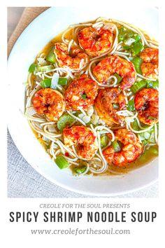 How To Peel Shrimp, How To Devein Shrimp, Shrimp Noodles, Spaghetti Noodles, Sauteed Shrimp, Spicy Shrimp, Lo Mein Noodles, Microwave Bowls, Creole Recipes