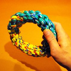DIY dog toy ring With more Knotted toys for Dogs -wonder how fast scott would destroy this?