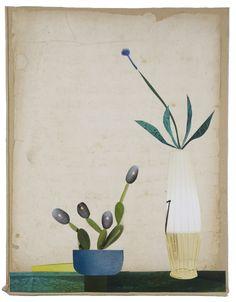Anke Roder collage 'Room plants' 2014