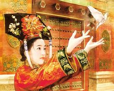 The Ancient Chinese Beauty by Der Jen  - Der Jen's Art Painting - The Beauties in Qing Dynasty  14