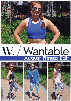 Wantable August Fitness Edit | Mesh Paneled Crops | Blue Jacket | Blue Sports Bra | Cute Tops | Fit Fashion | Sweaty Chic | Fit & Fashionable Friday