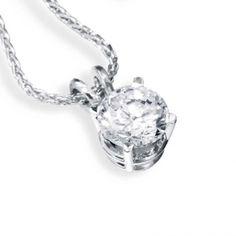 Brilliant cut diamond solitaire pendant Diamond necklaces - PA ...