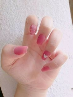 Cute Acrylic Nails, Cute Nails, Pretty Nails, Cute Nail Art Designs, Acrylic Nail Designs, Pink Nails, My Nails, Pastel Nails, Asian Nails