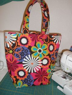 30% off Sale  use MAR2015 Reversible Grocery/Market/Tote Bag PDF Pattern by Thatsastitch