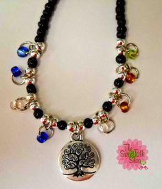 Family Tree Charm Bracelet  good base idea