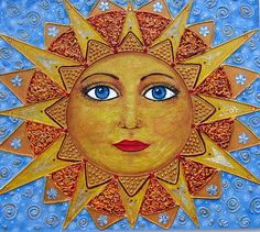 Sun face (my original painting). Gifted.