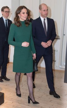30 January 2018 - Royal tour to Sweden and Norway (day Stockholm, ArkDes National Centre for Architecture and Design - dressby Catherine Walker, bag by Mulberry Kate Middleton Legs, Princess Kate Middleton, Catherine Walker, Prince William And Catherine, Duke And Duchess, Duchess Of Cambridge, Kate And Meghan, Evolution Of Fashion, My Fair Lady